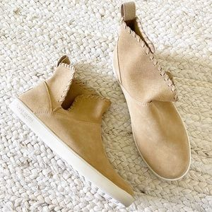 Koolaburra Ugg Suede Rylee Stitched Sneaker Boots